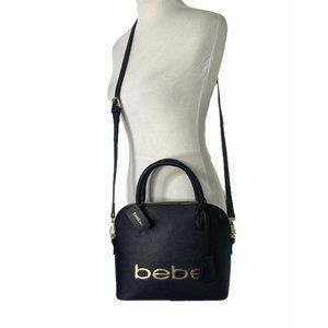 Bebe fabiola stamped dome mid size cross body
